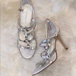 White/Silver Sandals